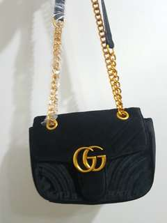 Gucci velvet marmont sling bag