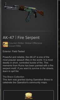 AK FIRE SERPENT CSGO