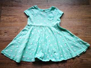 Old Navy Jade Polka Dot Dress