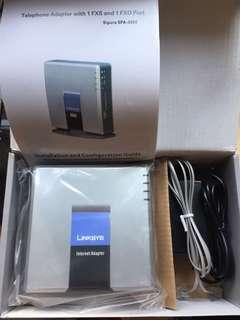 Linksys SPA-3000 VOIP Phone Analog Adatpor 網路電話閘道器