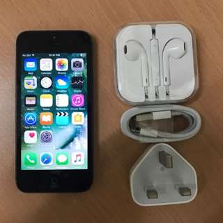 iPhone5, 16GB Black- Original(ios10)