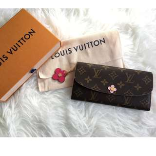 Louis vuitton long wallet in pink