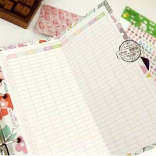 Foldable (A5/A6) Yearly Planner/Journal Insert [PO]