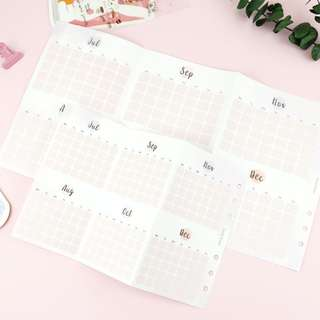 Folded Yearly Planner/ Journal Insert [PO]