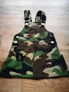 BNWOT Camouflage Girl Dungaree