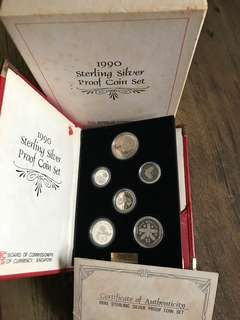 A043 - Singapore 1990 Proof Silver Coin Set