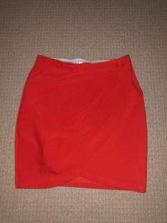 Orange Bodycon Skirt