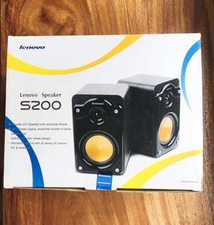 Lenovo S200 wooden speakers