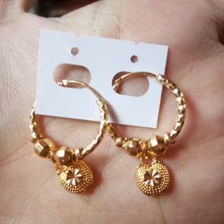 Gold plated earrings💎😍