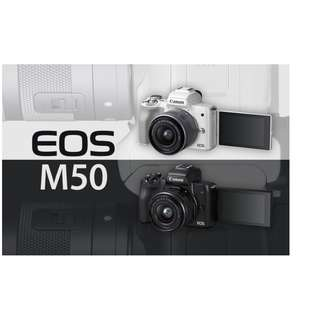 🛒Canon EOS M50 Mirrorless Camera With 15-45mm Lens