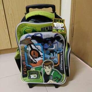 Ben 10 Backpack Trolley Bag