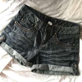 (M)鐵灰牛仔短褲
