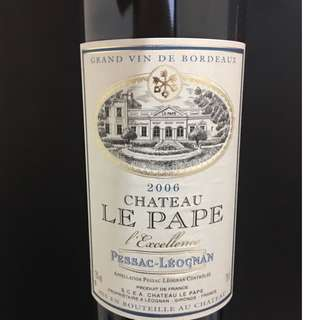 皇酒莊红葡萄酒(Chateau Le Pape, Pessac-Leognan, France 2006)