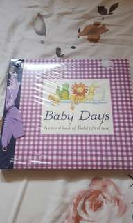 A record book of baby's first year