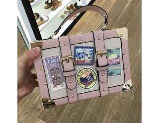 ALDO BOX BAG (PALE PINK)