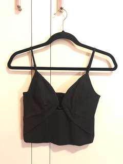 Bardot Black Bandeau Bralette Party Crop Top