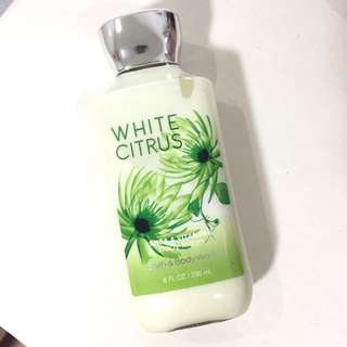 Authentic Bath and Body Works White Citrus Lotion
