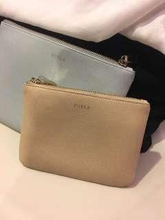 Furla saffiano leather pouch