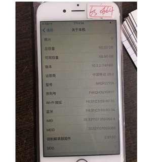 iphone6S 64G 玫瑰金 原裝二手(ios10.3.2)