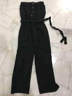 black jumpsuit tube