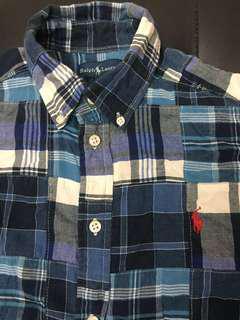 Ralph Lauren Polo Shirt 拼布格仔 (中童size)