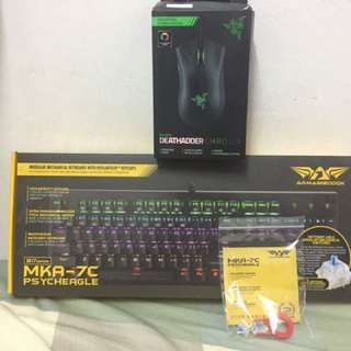 Razer Deathadder Chroma and armaggedon keyboard
