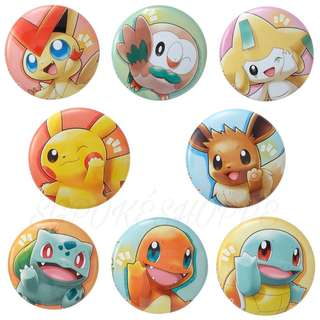 [PO] ASSORTED POKEMON CAN BADGE [POKEMON WITH YOU] - POKEMON CENTER EXCLUSIVE
