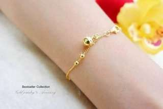 Bracelet Genuine gold Heavy gold 1 ounce gold plated genuine