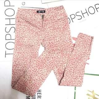 F21 Leopard Print Skinny Jeans