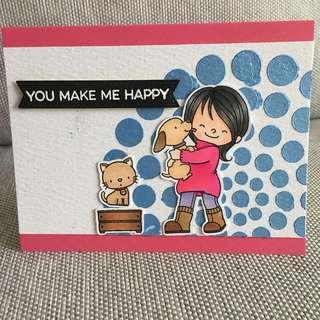 🚚 Handmade card