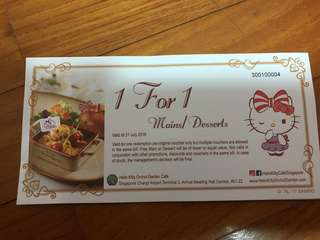 Hello Kitty Orchid Garden Cafe Vouchers x8