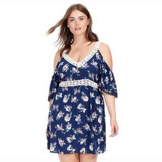 PREORDER Plus Size Cold Shoulder Dress