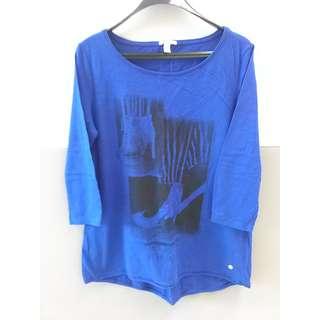 ESPRIT 女裝中袖藍色 Tee