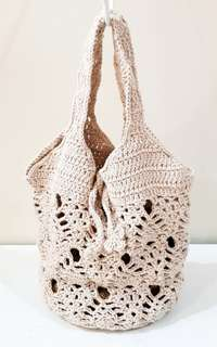 Little Crochet Bag (Beige)