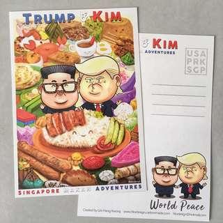 Trump & Kim: Singapore Makan Adventures Postcard