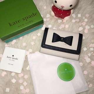 KATE SPADE NEW YORK Hazel Court Darla Keyring Wallet - PWRU4474 (Pebble Beige)