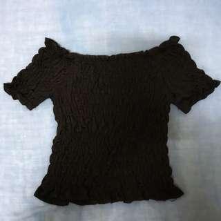 Black Off-Shoulder Top (Freesize)
