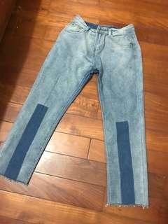 造型刷色牛仔褲