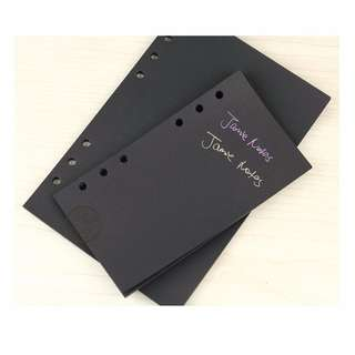 Black A5/A6 Journal/ Planner Inserts [PO]