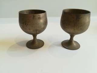 铜酒杯2個