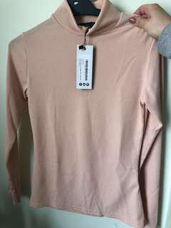 Turtle neck top nude pink