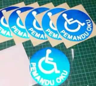 Sticker OKU Pantul Cahaya