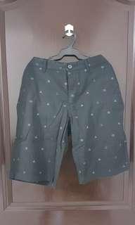 Giordano Navy Blue/ Grey Slim Bermuda Shorts