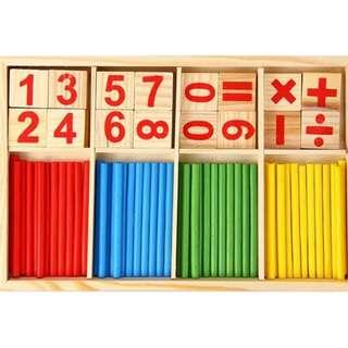 Montessori Intelligence Stick Kids Baby Toys Educational