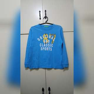 MA189 Bossini Kids Light Blue Sweatshirt for boys (see pics for Measurements & flaw)