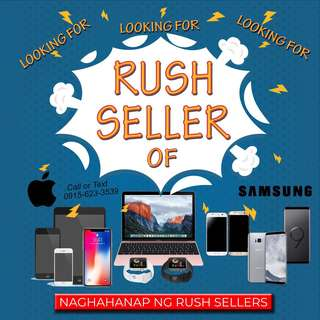 Rush sell of iPhone 6 7 8 X and Samsung s7 s8 s9 cash on hand