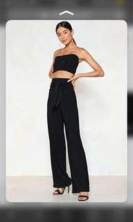 Wide leg pants set