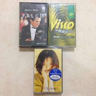 [CLEARANCE] Pop Cassette Tapes Kaset (Regine, Falco, Visco Trax)
