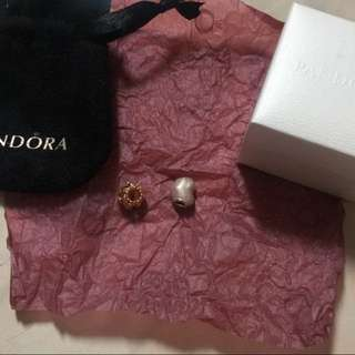 Pandora Rose Gold & Heart Charm