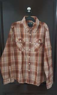 Freego Orange Plaid Longsleeves